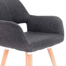 Esszimmerstuhl Küchenstuhl Design Stuhl Leinen Holz