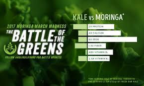 Moringa Comparison Chart Battle Of The Greens Moringa Vs Kale Kuli Kuli Foods