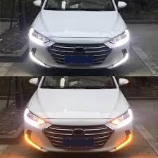 2018 Hyundai Elantra Daytime Running Lights Pair Dual Color Car Led Daytime Running Lights Turn Signal Lamp For Hyundai Elantra Ad 2017 2018
