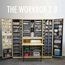 craft storage ideas sbook storage folds up into a cabinet 1495 includes storage accessories smaller version craft storage