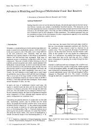 Fixed Bed Reactor Design Advances In Modelling And Design Of Multitubular Fixed Bed