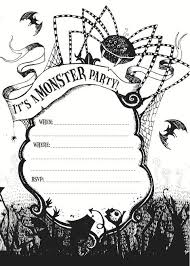 Free Halloween Birthday Invitation Templates Free Printable Halloween Birthday Invitation Templates