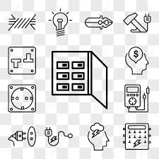 fuse box icons wiring diagram expert set of 13 transparent editable icons such as fuse box storm fuse box icons