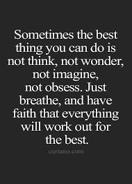 Faith Beats Sense Quote