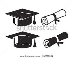 vector black graduation cap diploma on stock vector  vector black graduation cap and diploma on white background