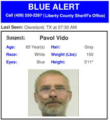 The state's amber alert network, managed by the texas department of public safety (dps), has an agreement with the national weather service (nws) to activate the eas system during amber and blue alerts issued by dps, on behalf of law enforcement. U S Emergency Alert On Twitter Texas Blue Alert For 65 Year Old Pavol Vido Wanted For Shooting 4 People Including A Sheriff S Deputy In Liberty County Call 911 If Seen Source Dps Lcso Https T Co K9xl0a8umw