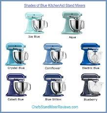 kitchenaid mixer colors. 8 shades of blue kitchenaid mixers compared side by side. mixer colors k