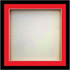 Red Photo Frames 3d Square Box Frames For Baby Cast Shadow Deep Display Case Medals