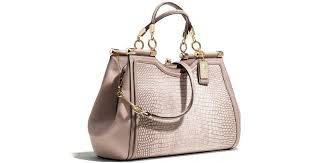 Lyst - Coach Madison Pinnacle Carrie in Lizard Embossed Leather in Natural