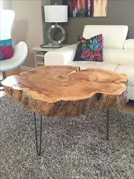 tree trunk table top tree trunk table with metal legs wood coffee table with hairpin legs