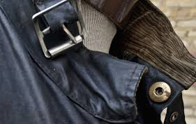barbour vintage motorcycle jacket collar