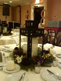 ... Black And White Candle Centerpieces : Inspiring Dining Table Decoration  With Round Tables Plus White Table ...