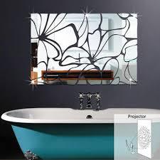 honana acrylic mirrored diy decorative wall stickers 3d mural bathroom mirror sticker decoration