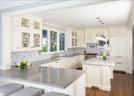 best white paint for kitchen cabinetsSmall Island And Decorative Backsplash Ideas For Modern Kitchen