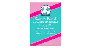Soccer Party Invite Girls Soccer Themed Birthday Party Invitations Zazzle Com