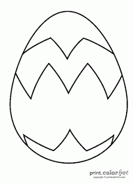 Big Easter Egg Coloring Page Print Color Fun