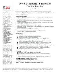 Maintenance Technician Resume Sample Diesel Mechanic Resume Example Diesel Mechanic Resume Examples Fresh