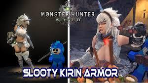 Monster Hunter World mods Slooty Kirin Armor - YouTube