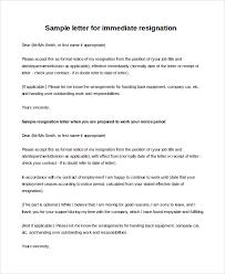 Resignation Letter: How To Write A Immediate Resignation Letter ...