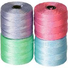 Superlon Thread Size Chart The Beadsmith Super Lon Bead Cord Color Mix Pastels Mix