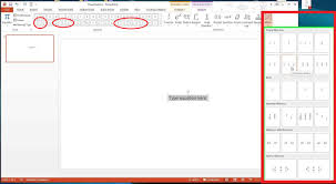 powerpoint equation editor powerpoint matrix equation equation editor