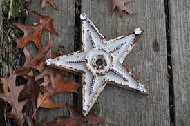 rust and rhinestone star rustic star home decor by rustheap