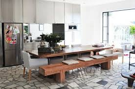 modern kitchen table with bench. Modern Dining Room With Benchmodern Table Bench Impressive Benches Kitchen I
