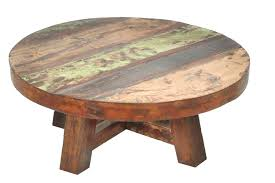 awesome reclaimed wood round coffee table with astonishing rustic for inspiring zinc top