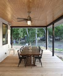 austin elegant ceiling fans porch farmhouse with overhang beach midcentury modern dining room chairs and open