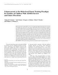 Pdf Enhancements To The Behavioral Parent Training Paradigm