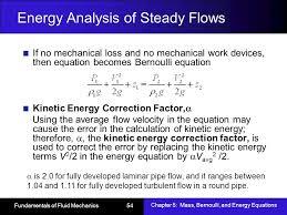 energy ysis of steady flows