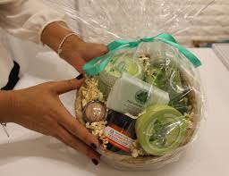 my gorgeous gift basket courtesy of the body