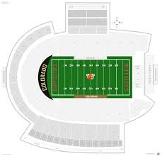 Invesco Field Seating Chart With Seat Numbers Folsom Field Colorado Seating Guide Rateyourseats Com