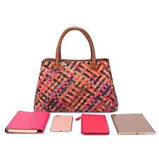 women handbag color knitted woven leather two layer leather handbag handbag