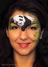 resting panda face painting by olga meleca