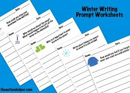 write about winter visual writing activities and prompts the  worksheets