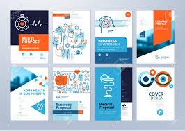 Set Of Medical Brochure Annual Report Flyer Design Templates