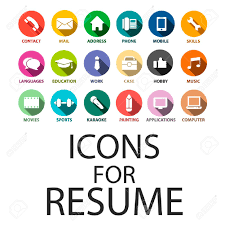 Free Resume Icons Icons Set For Your Resume CV Job Royalty Free Cliparts Vectors 23