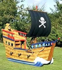 outdoor pirate ship playhouse outdoor pirate ship fun kids backyard play area shaped light brown wood