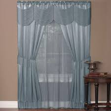achim sheer halley ice blue window curtain set 56 in w x 84 in