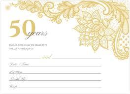 Elegant Invitation Cards Elegant Lace Golden Anniversary Fill In The Blank Invitation
