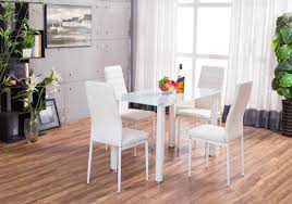 white lunar rectangle glass dining table 4 chairs set furniturebox with in hyderabad ne