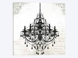 black chandelier ii by pi galerie 1 piece canvas artwork