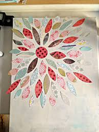 painting on paper ideas summer crafting day 12 paper flower canvas art me my big ideas