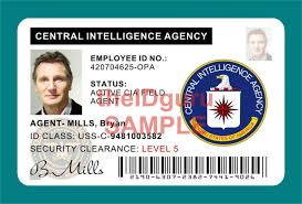 Holographic Prop movie - ~ Plastic Taken Card Identification Mills Agent Id Bryan Made Usa Pvc Cia