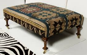 Kilim Rug Ottoman   Kilim Ottoman   Kilim Footstool Ottoman