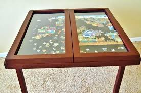 jigsaw puzzle table with drawers windowpane by on australia dra extraordinary puzzle tables portable 7 jigsaw folding table