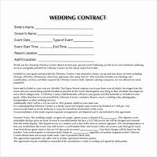 Free Wedding Planner Contract Templates Wedding Planners Contract Template Awesome Party Planner