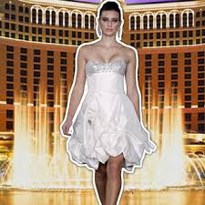 las vegas wedding dresses wedding dresses and style brides com Wedding Dresses Vegas __the bellagio__ strapless silk taffeta cocktail dress with intricately encrusted bodice and bubble skirt with pick wedding dress vegas style