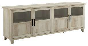 70 tv console with glass and wood